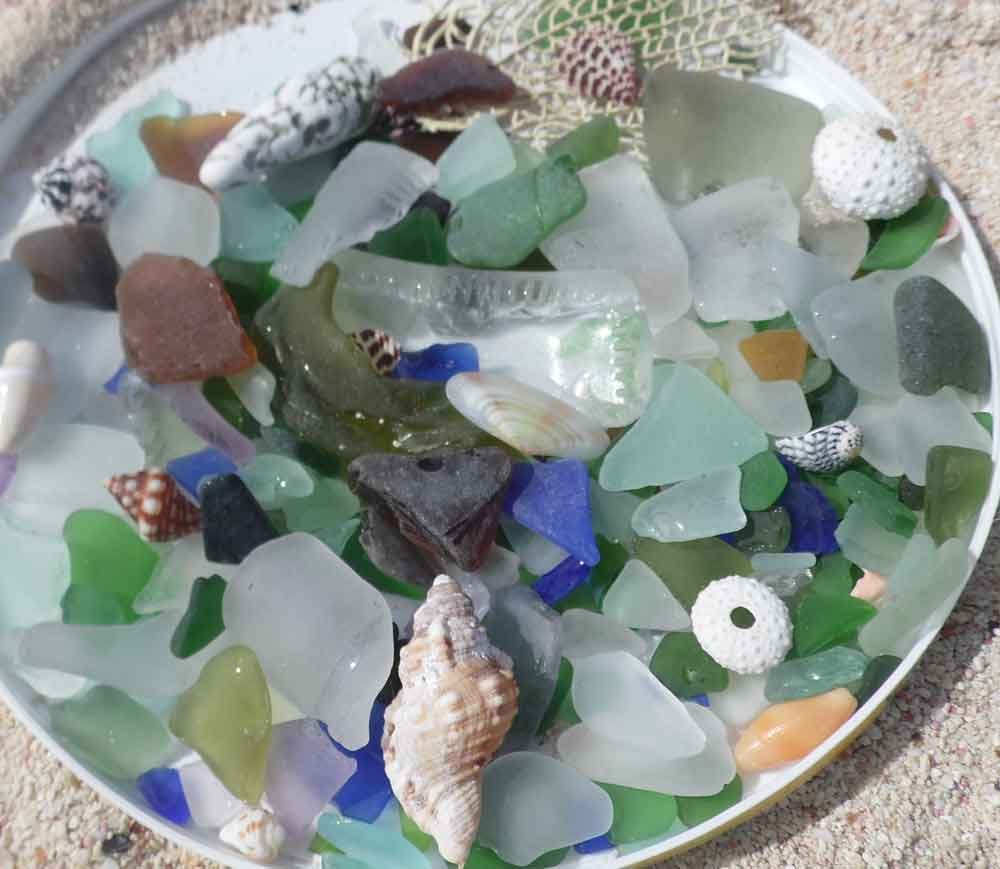 Sea Glass Hunting Bahamas